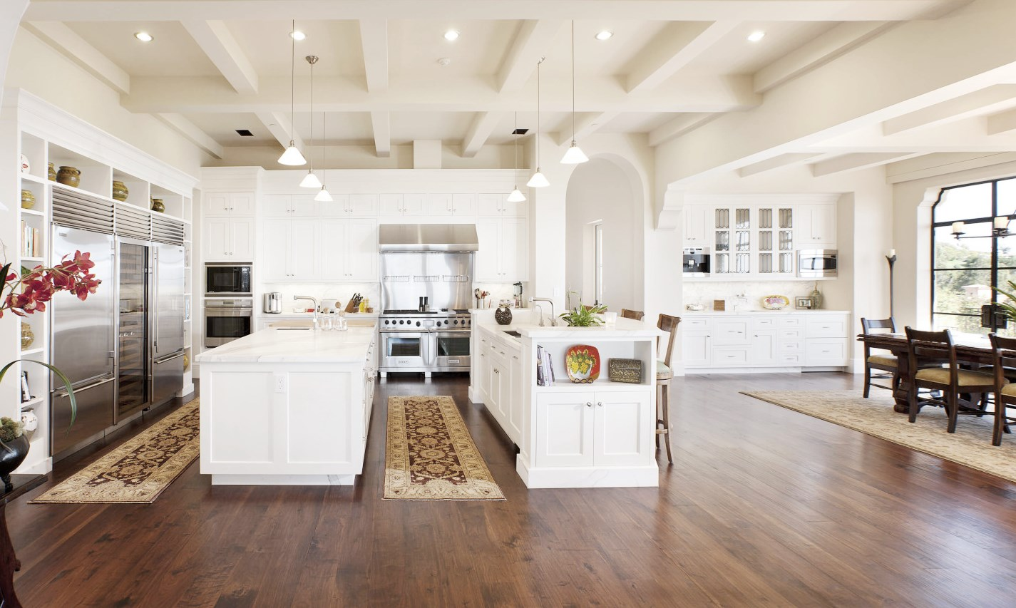 kitchen island home design | $45 Million Montecito Mansion - See This House | COCOCOZY