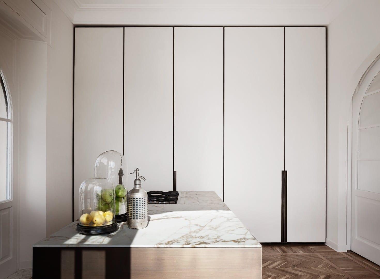 Modern Rome Apartment Kitchen Cabinets
