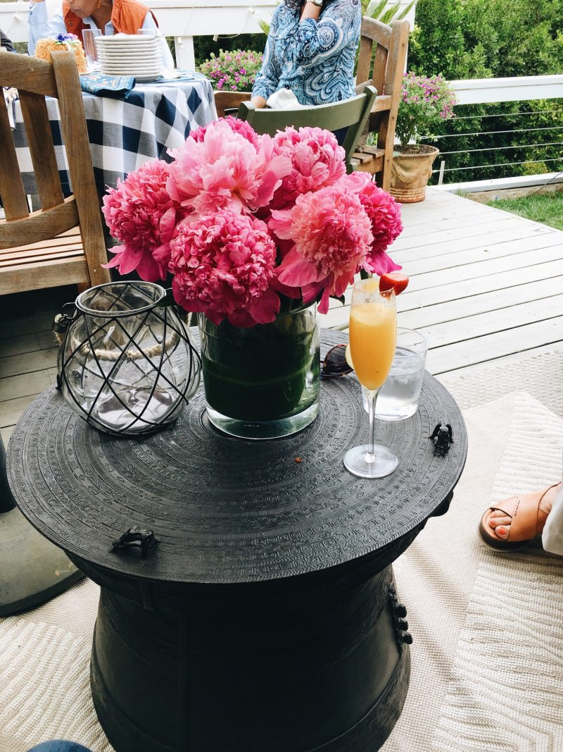 Sunday Brunch Pink Peonies Mimosas