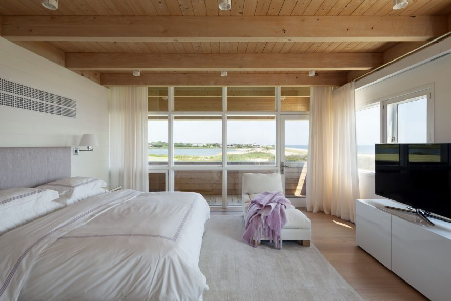 hamptons modern home tour master bedroom