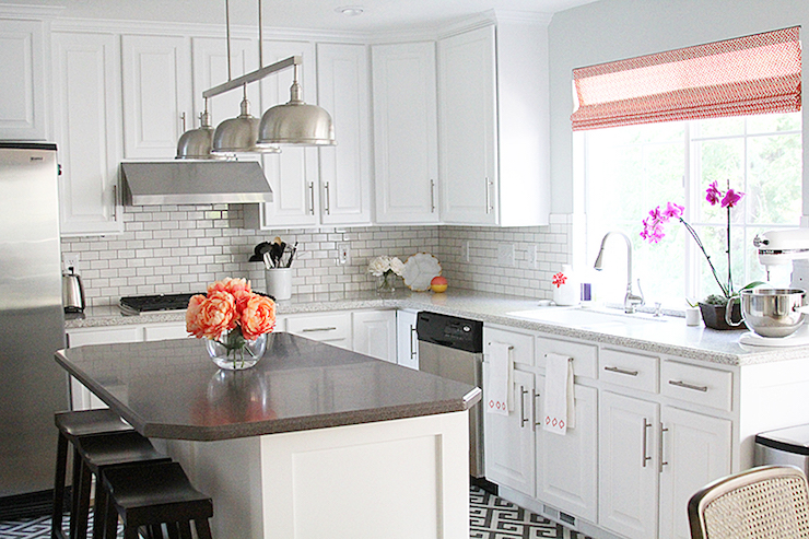Corian Colors White kitchen Gray counters