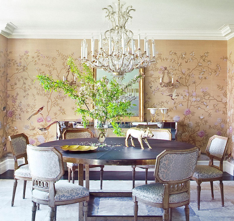 De Gournay Chinoiserie Earlham Dining Room