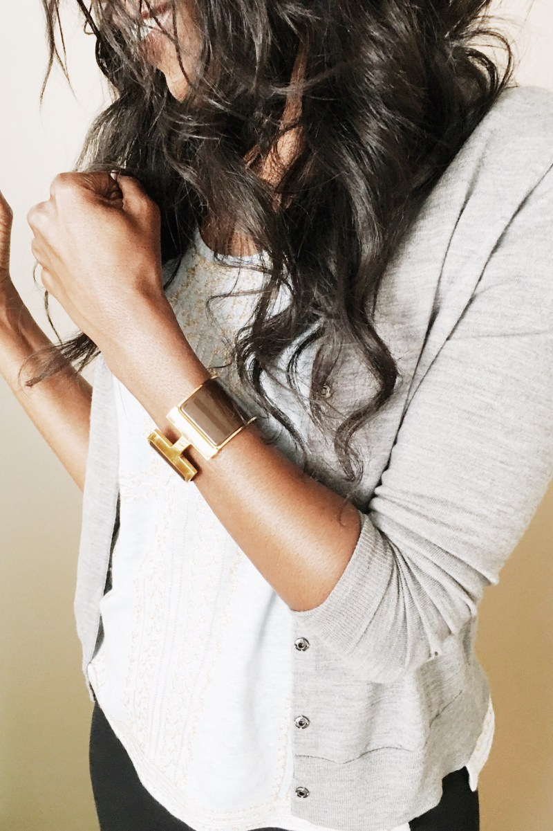 Hermes Gold Brown Enamel Bracelet