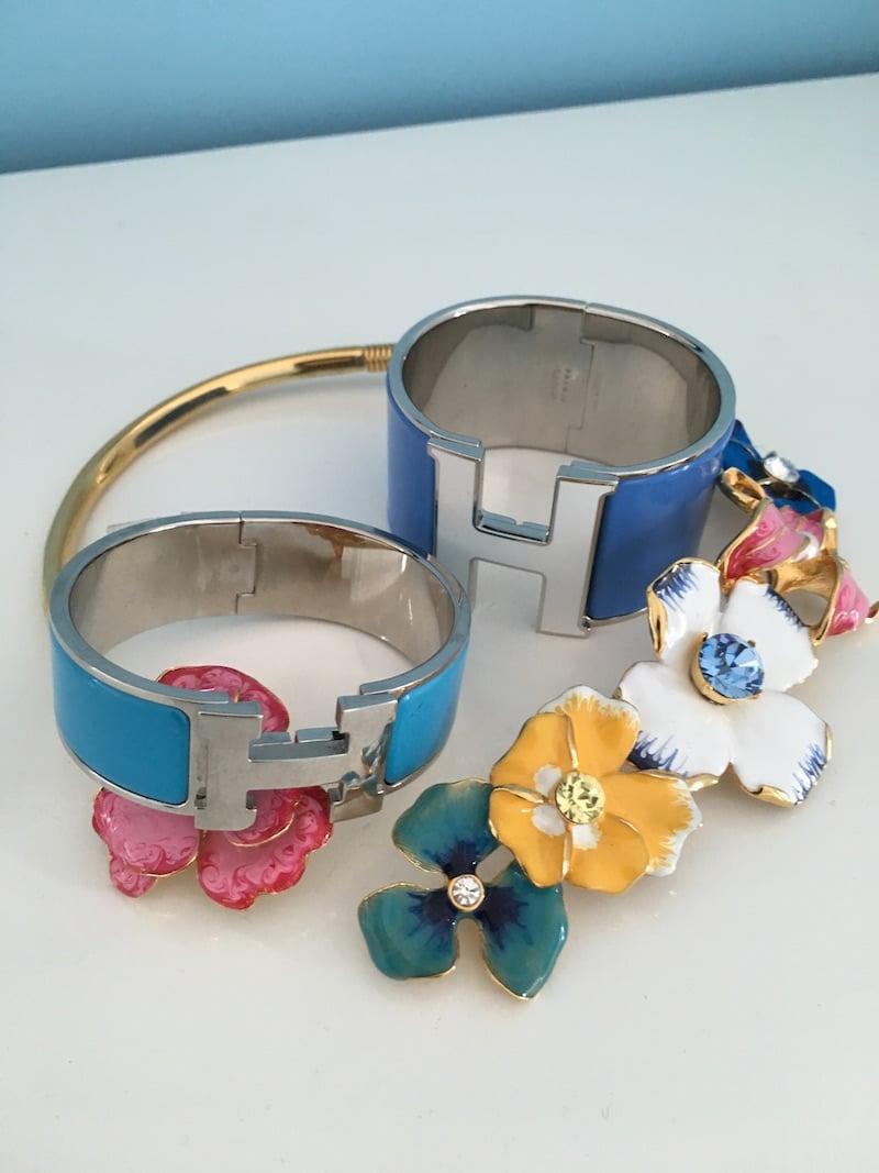 Hermes Blue H Bracelet