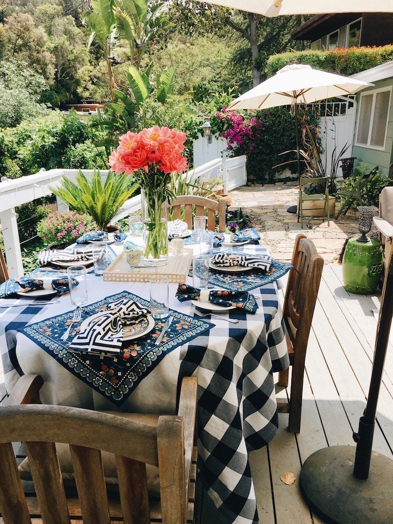 Blue Checkered Tablecloth Williams Sonoma