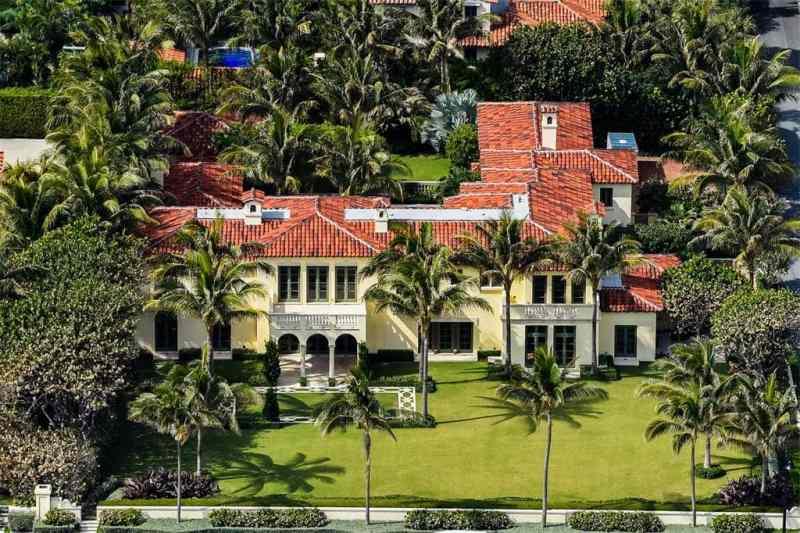Palm Beach Estate Aerial View