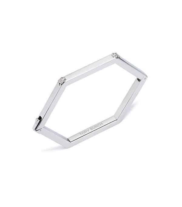 Tory Burch Silver Enamel Bracelet
