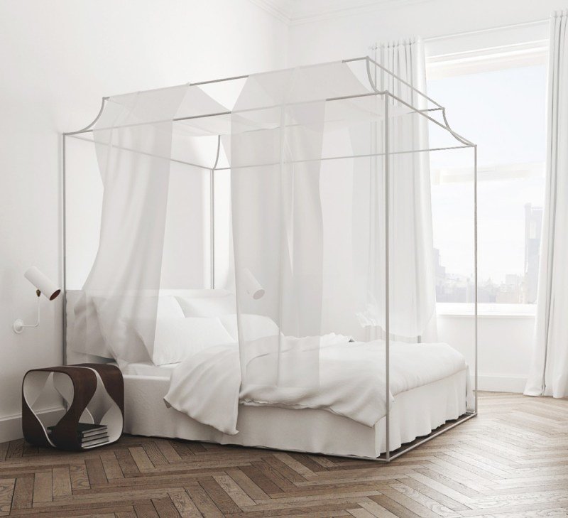 Canopy Bed Bedroom Barcelona Apartment
