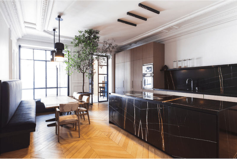 Chic Paris Apartment Open Kitchen