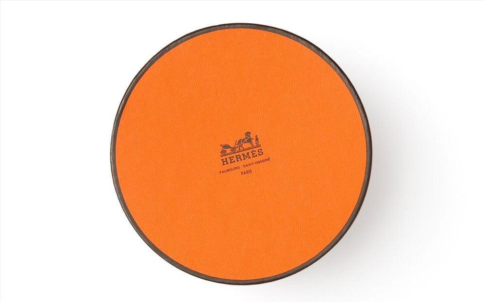 Hermes Round Orange Brown Box