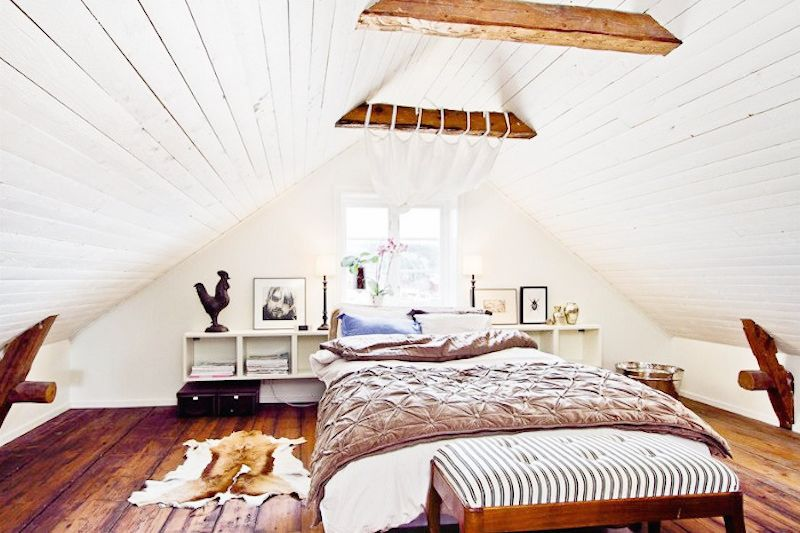 swedish home tour exposed beam bedrooms a frame ceiling