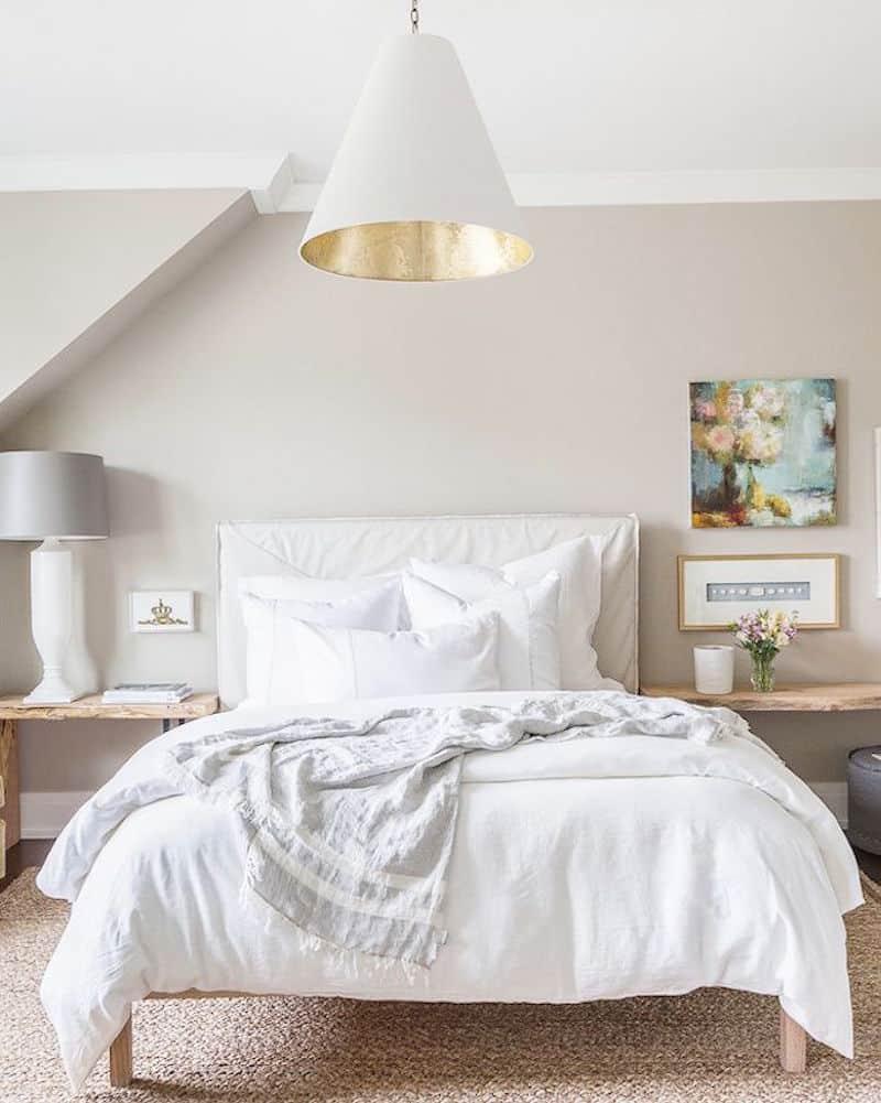 white coastal bedroom furniture taupe walls