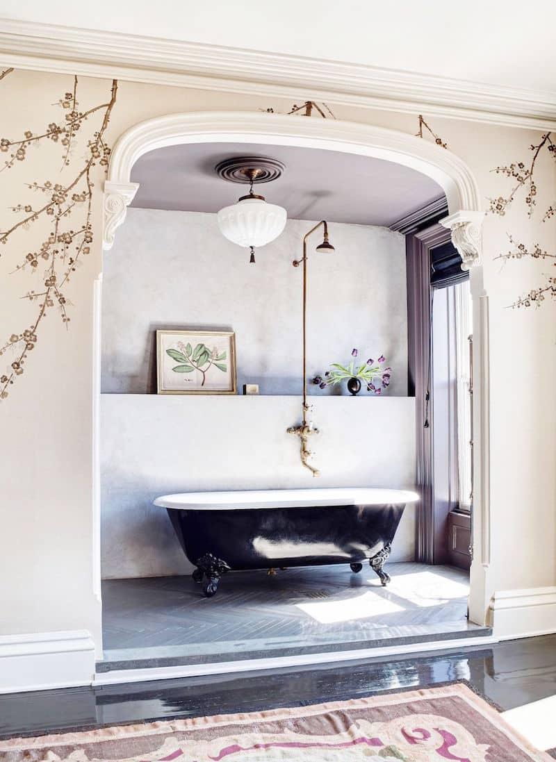 Roman-Williams-Townhouse-Redesign-Master-Bathroom-Crown-Molding ...