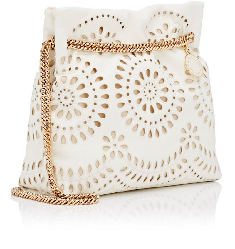 stella mccartney eyelet evening bag