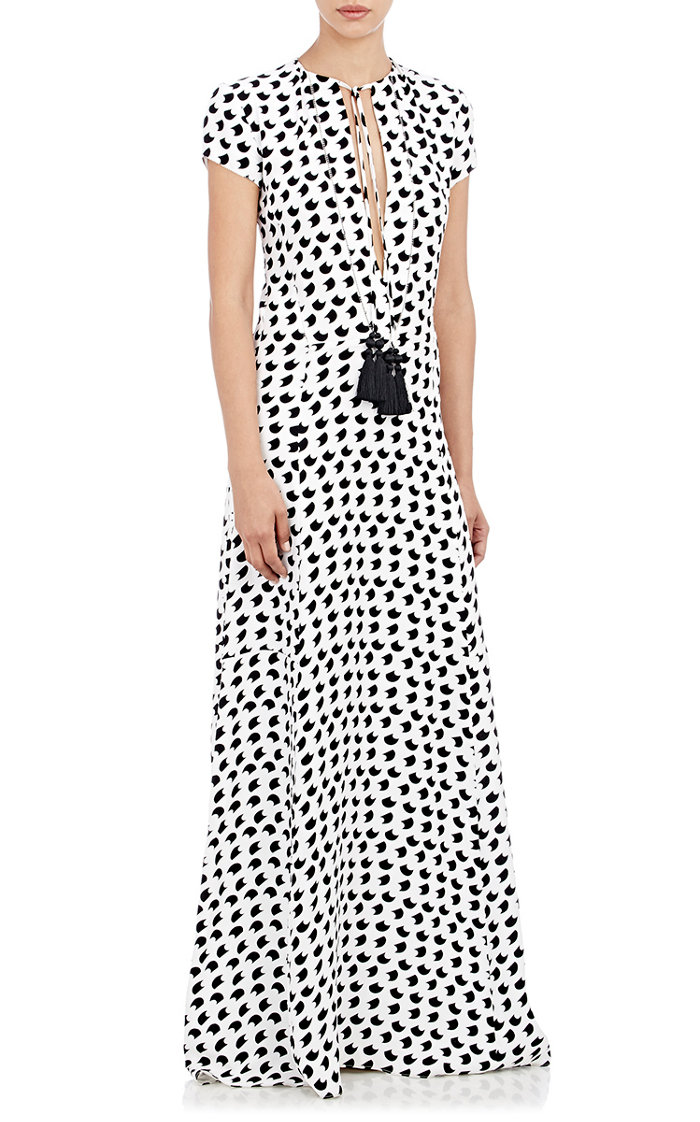 derek-lam-crepe-de-chine-long-dress-black-white-cococozy-barneys