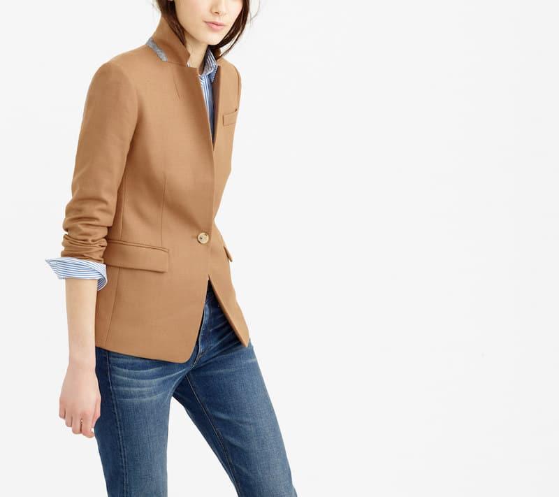jcrew camel colored blazer