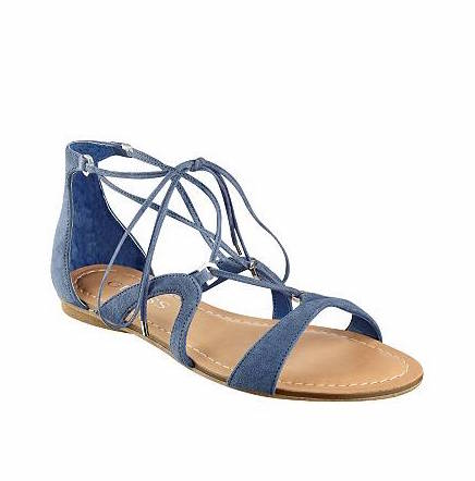 guess blue gladiator sandals