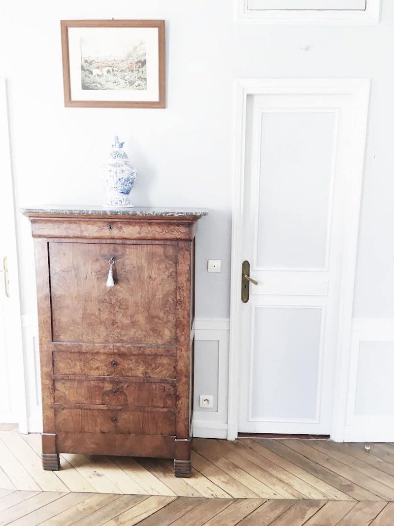 Paris Apartment Bedroom Dresser White Door