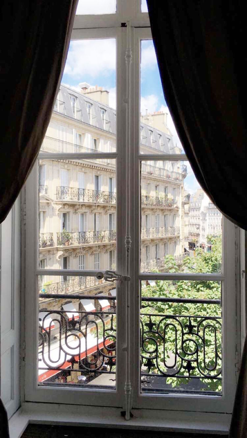 Paris Apartment Window View