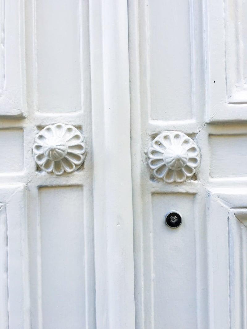 White Paris Door Knobs