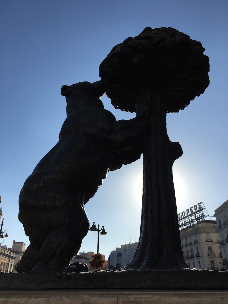 Retiro Park Sculpture Bear Tree