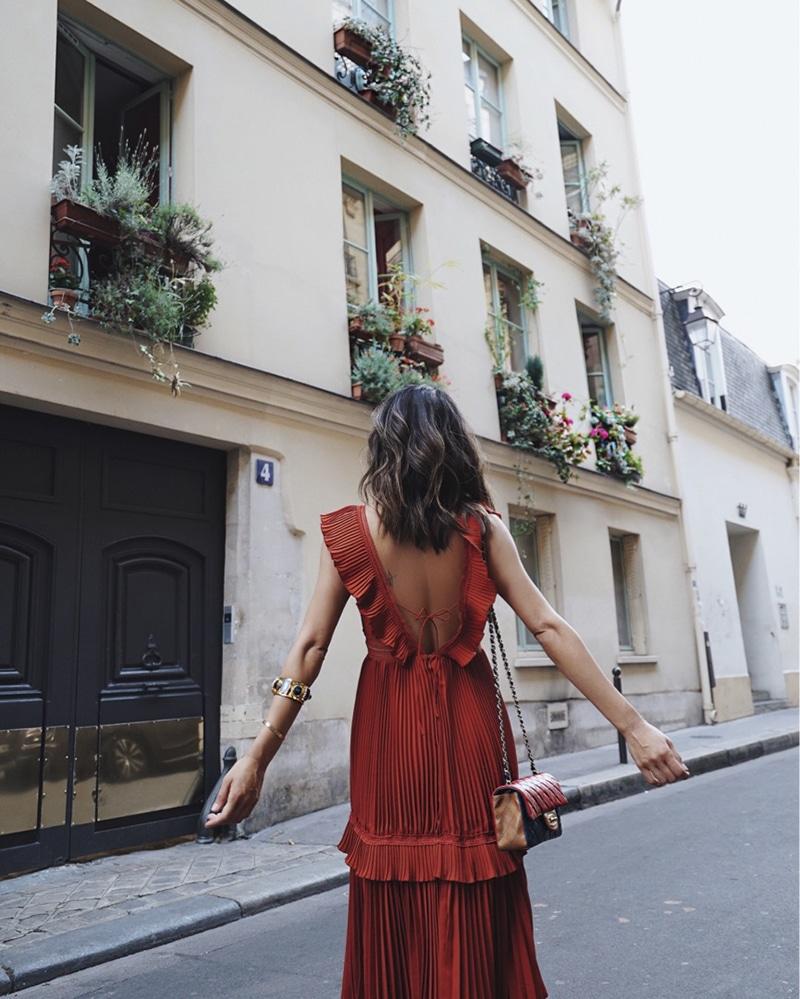 aimee song instagram favories paris red dress