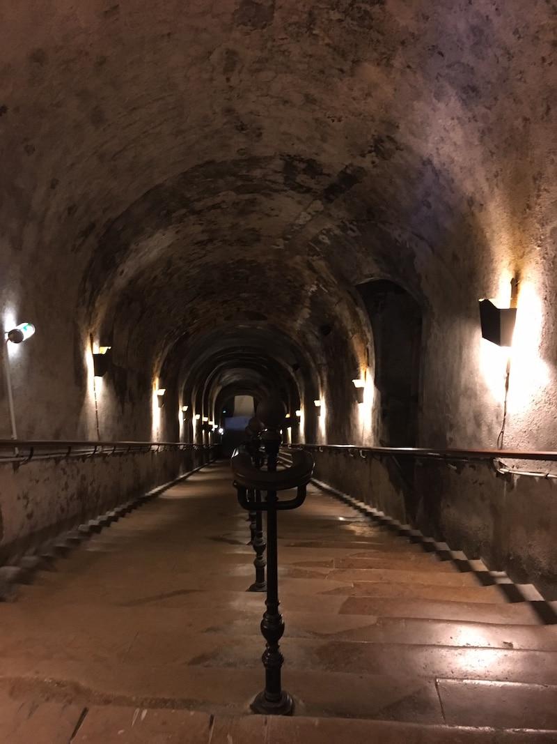 underground tunnels champagne wine region