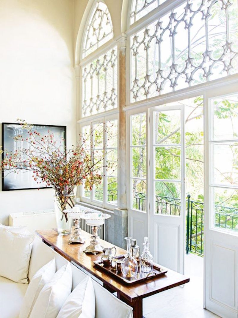 Lebanese Home Tour bright white living room