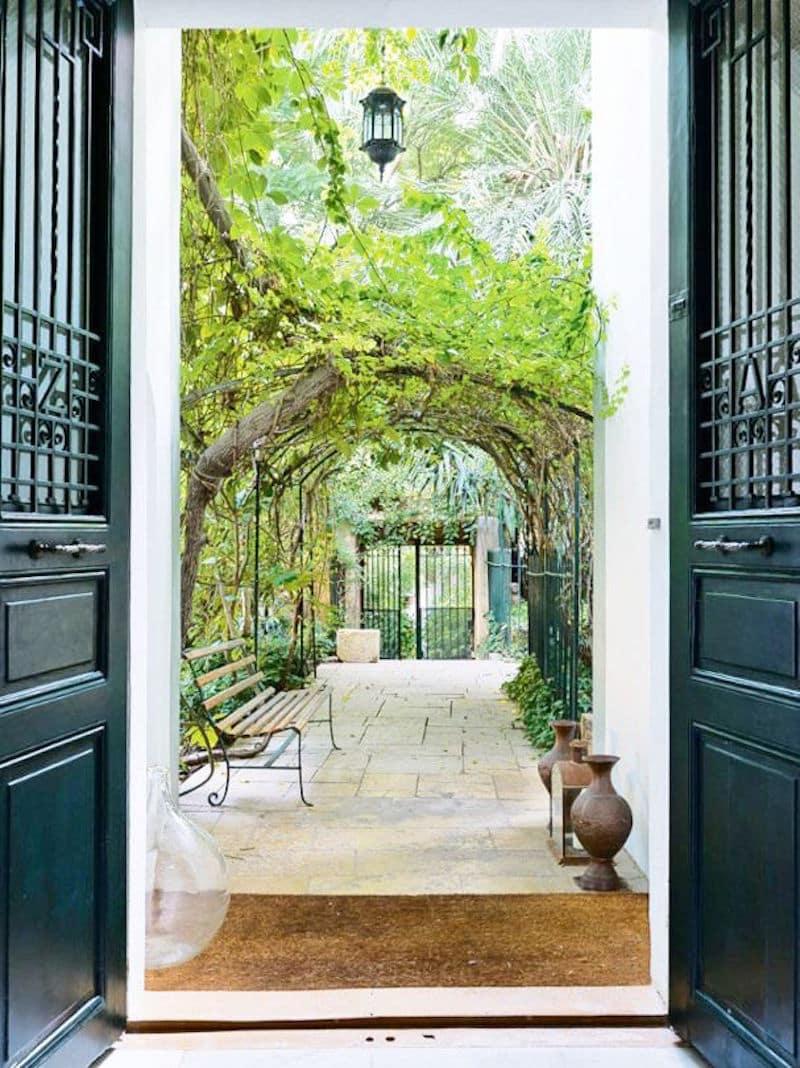 Lebanese home tour entry way outdoor courtyard