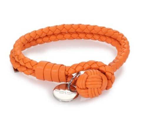 orange leather bracelet fashion