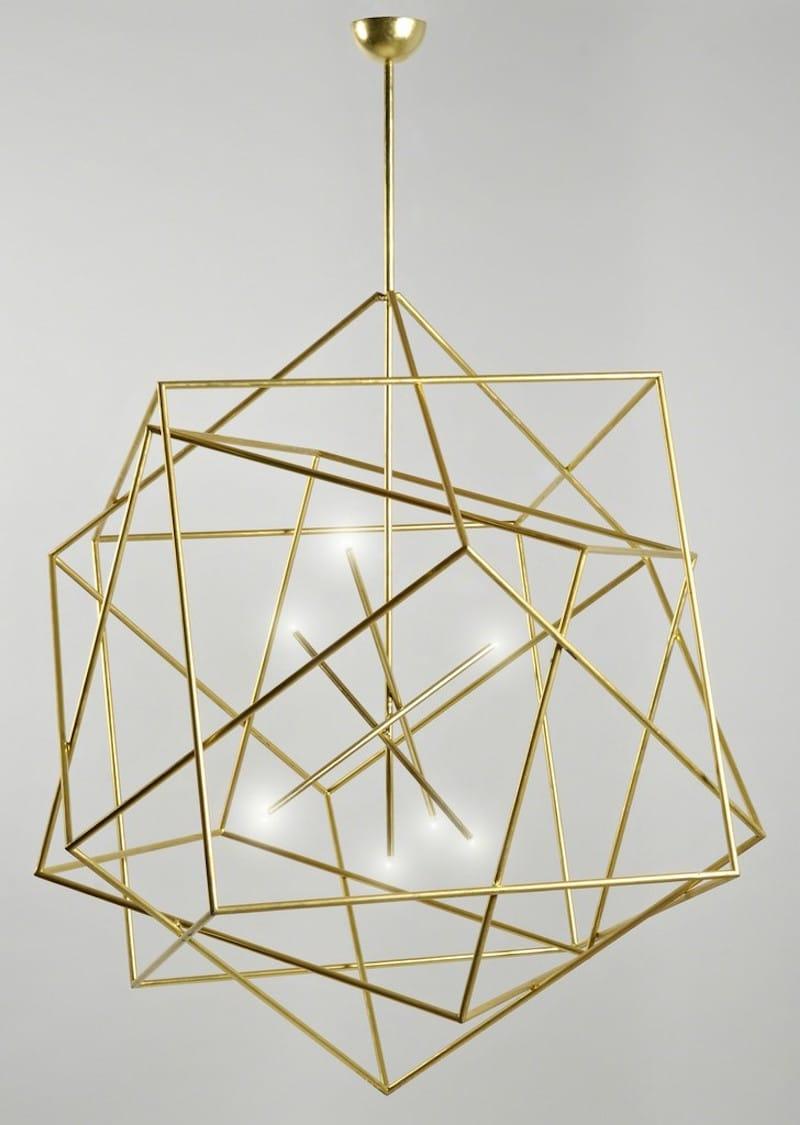 geometric gold chandelier