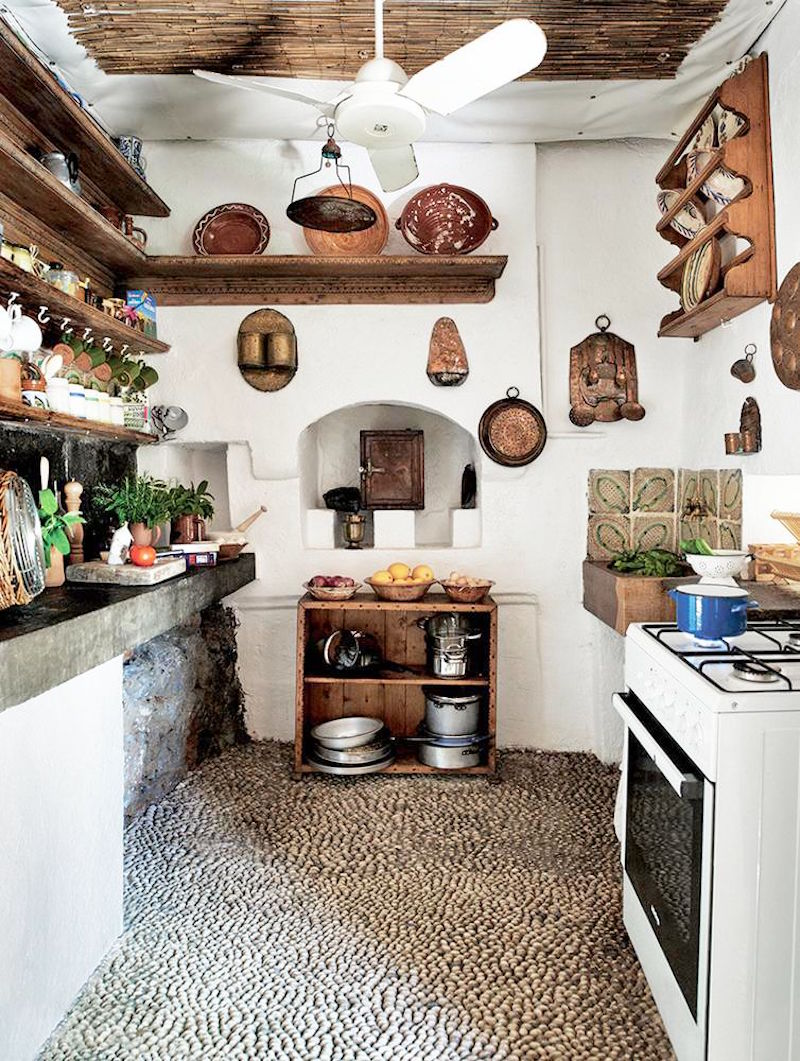 Kitchen Stone Floors Jasper Conran Greece Villa White Kitchen Stone Floors Wsj Cococozy