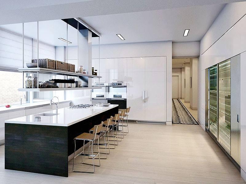 nyc penthouse kitchen