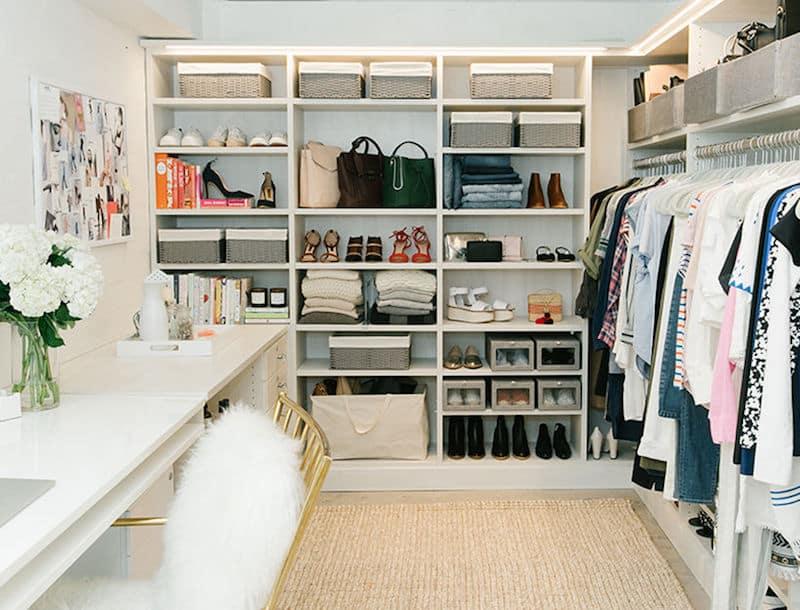 walk in closets white desk chair wardrobe
