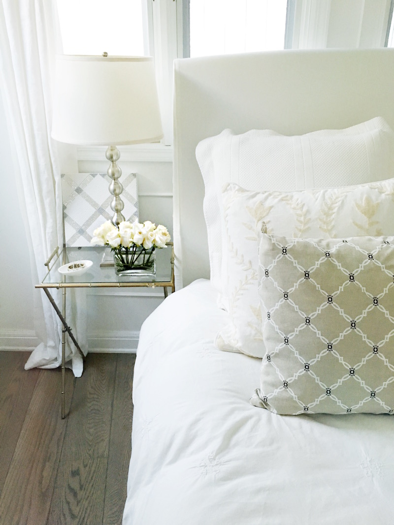 bedside table style natural kip pillow cream bedding