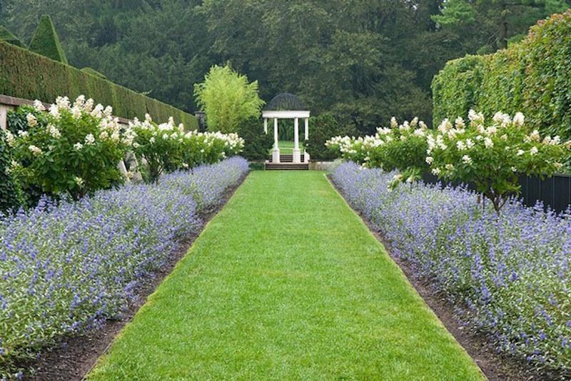 garden allees grass white gazebo longwood garden