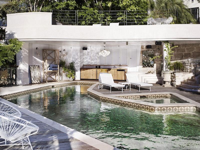chic house pool exterior australia