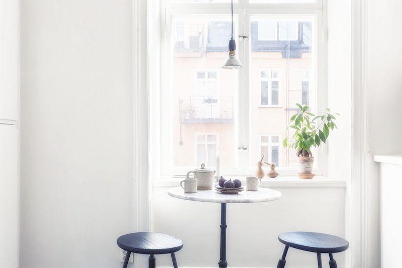 Sweden home kitchen nook stools table