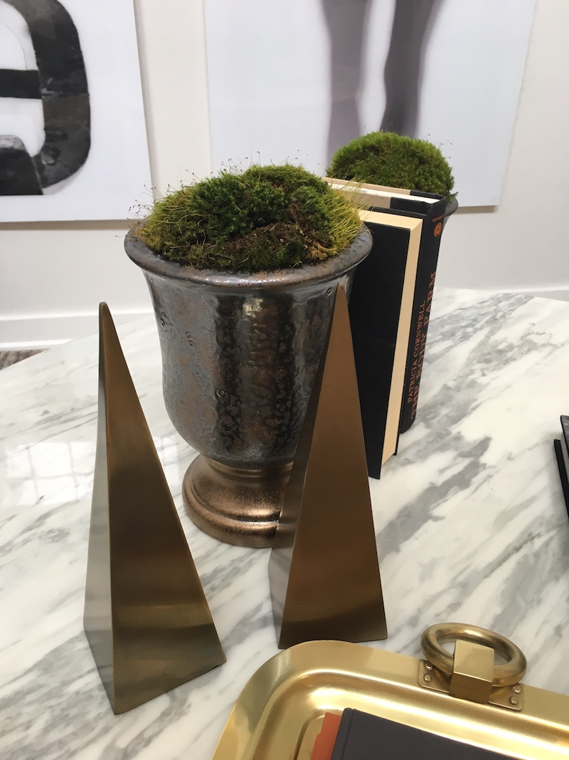 coffee table styling topiary