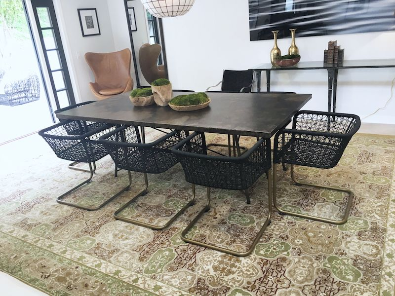 eclectic modern dining room