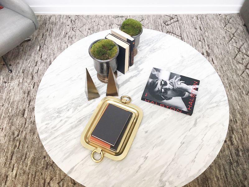 round marble gold coffee table topiary coffee table book