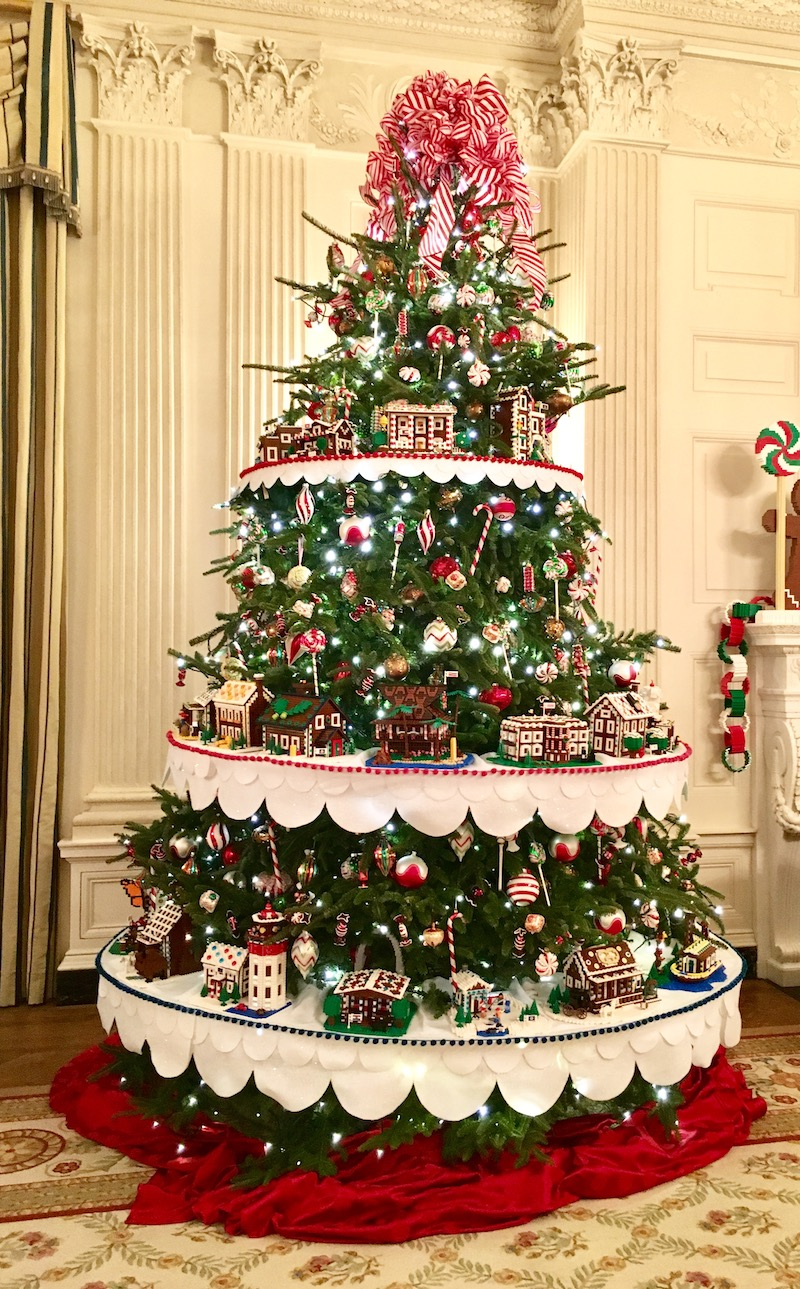 white house holidays christmas tree red room