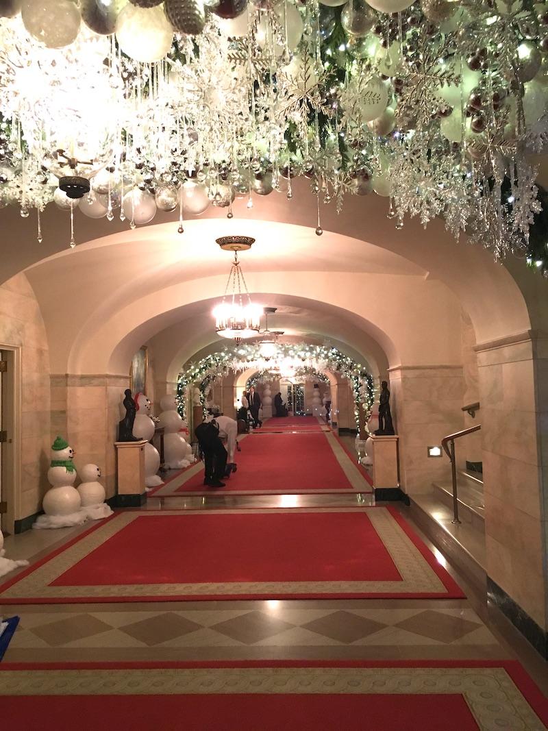 white house holidays hallway