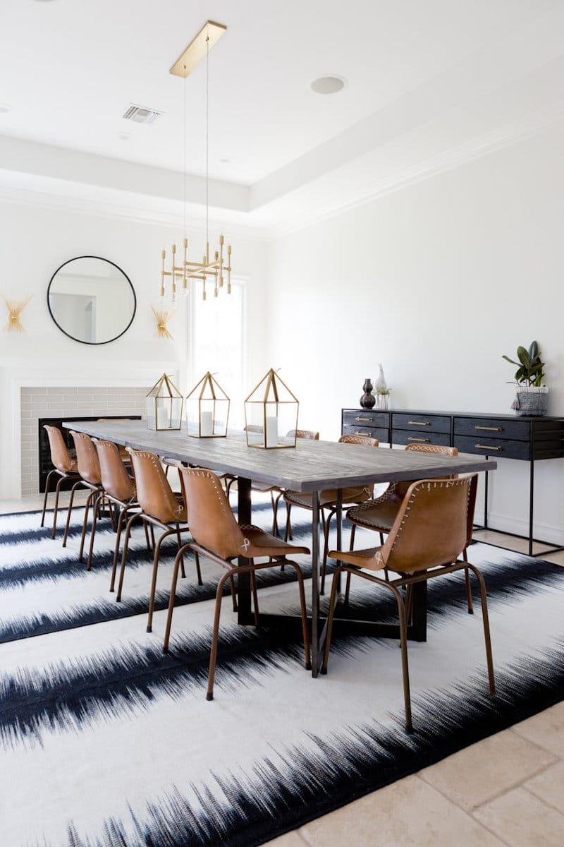 Beau Modern Bohemian Dining Room