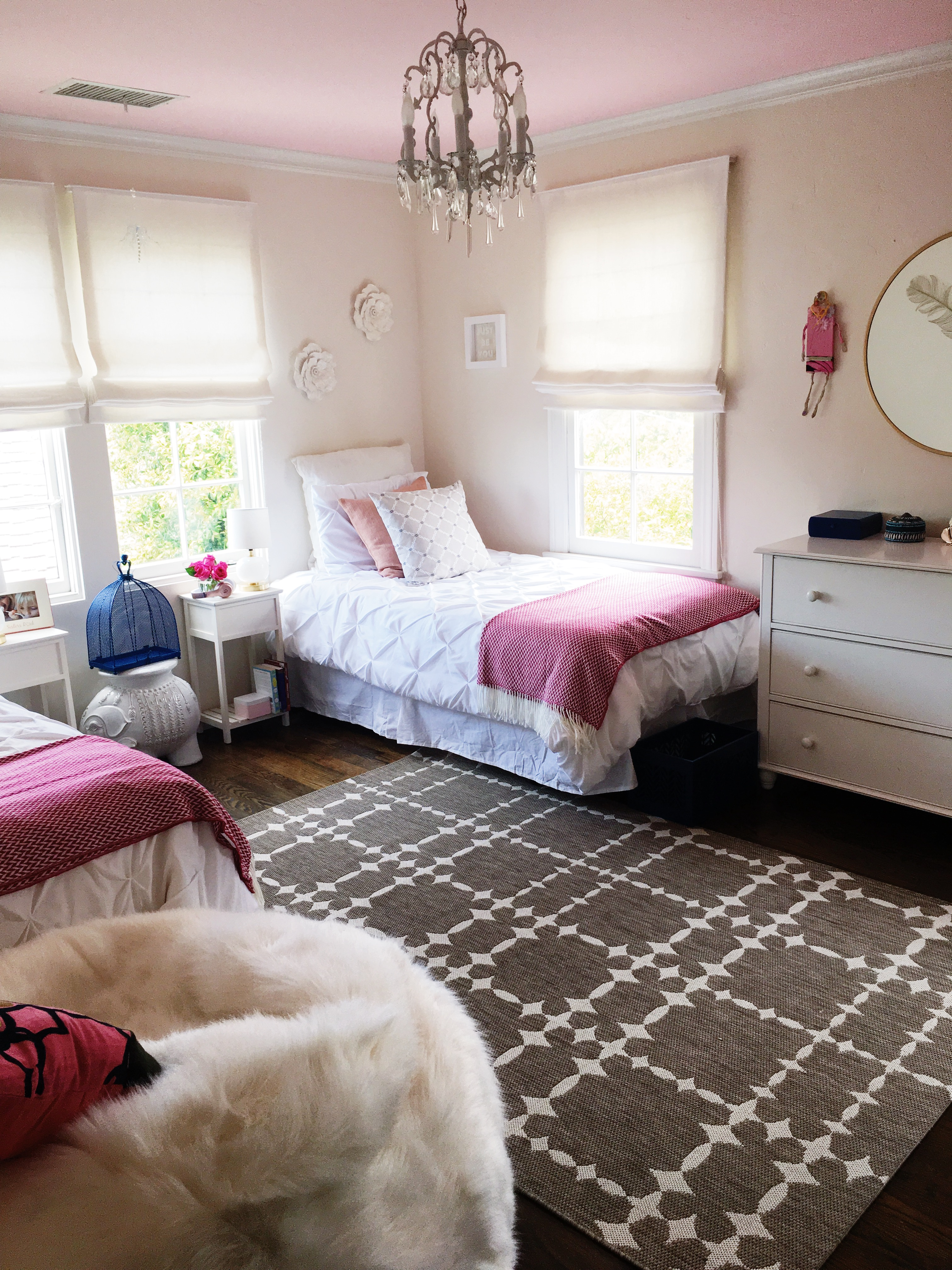 Easy Bedroom Makeover california girls' room makeover - easy paint ideas | cococozy
