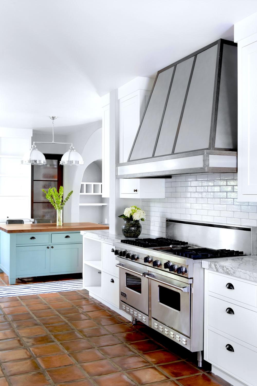 Kitchen stove hood saltillo tiles cococozy ryanwhitedesigns cococozy range hoods metal trim dailygadgetfo Image collections
