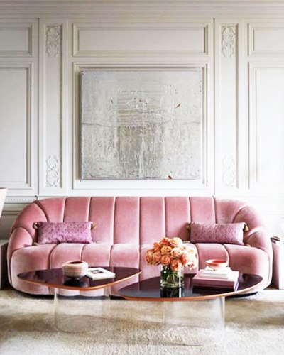 Sitting Pretty In 27 Of The Most Trendy Pink Sofas | COCOCOZY