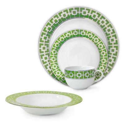 Green Nixon Porcelain Dinnerware