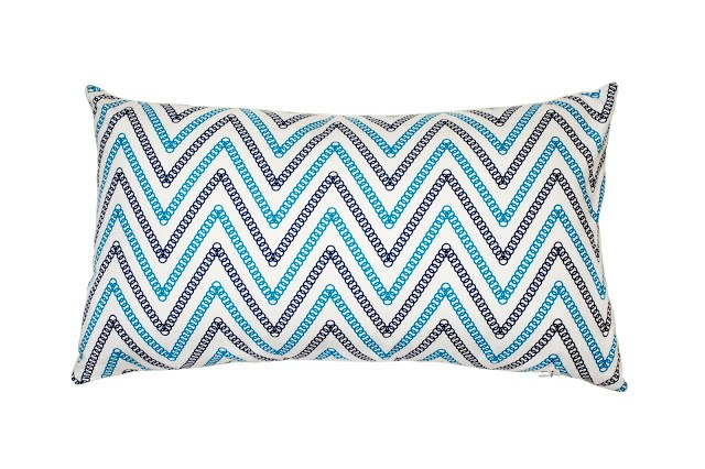 COCOCOZY Circle Chevron Pillow Special Edition for Tommy Hilfiger Surf Shack