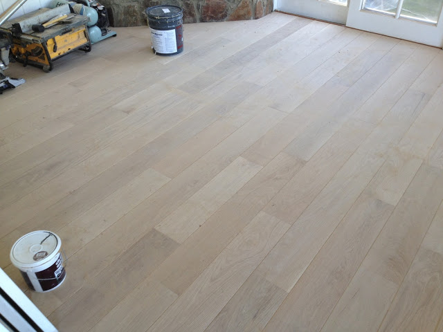 unfinished white oak floor